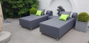 small outdoor lounger